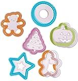 Progressive International 12 Piece Holiday Cookie Cutter and Stencil Set