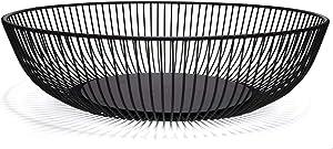 Teetookea Metal Wire Fruit Basket, Creative Minimalist Housewares Metal Iron Fruit Storage Bowls holder for Kitchen Counter, Home Decor, Table Centerpiece Decorative (Hemisphere)