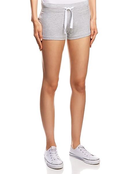 oodji Ultra Damen Jersey-Shorts Basic, Grau, DE 32   EU 34   XXS ... 72f83b13e7