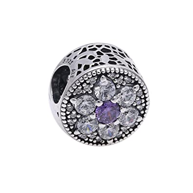f01e555b6 Image Unavailable. Image not available for. Color: Pandora Sterling Silver Forget  Me ...