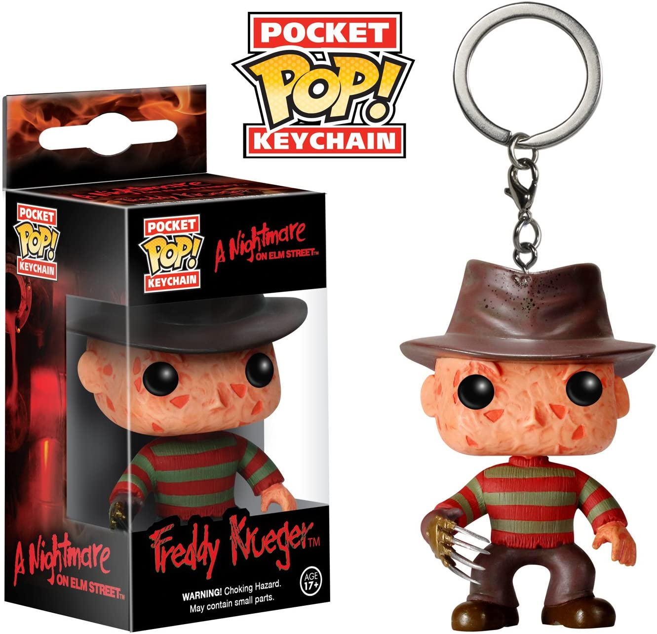 Nightmare On Elm Street Funko Pocket Pop Keychain Freddy Krueger Vinyl Figure