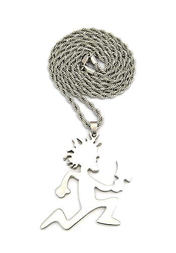 Nyfashion101 polished hatchetman pendant with 4mm silver tone nyfashion101 polished hatchetman pendant with 4mm silver tone stainless steel rope chain 30 amazon aloadofball Gallery