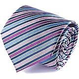 ネクタイ シルク100 ネクタイストライプ ピンクパープルネイビー 青 ネクタイブランドネクタイメンズ ギフトボックス