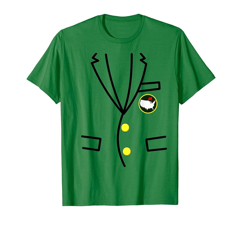 グリーンジャケットマスターゴルフTシャツ   B07QG5WJYV