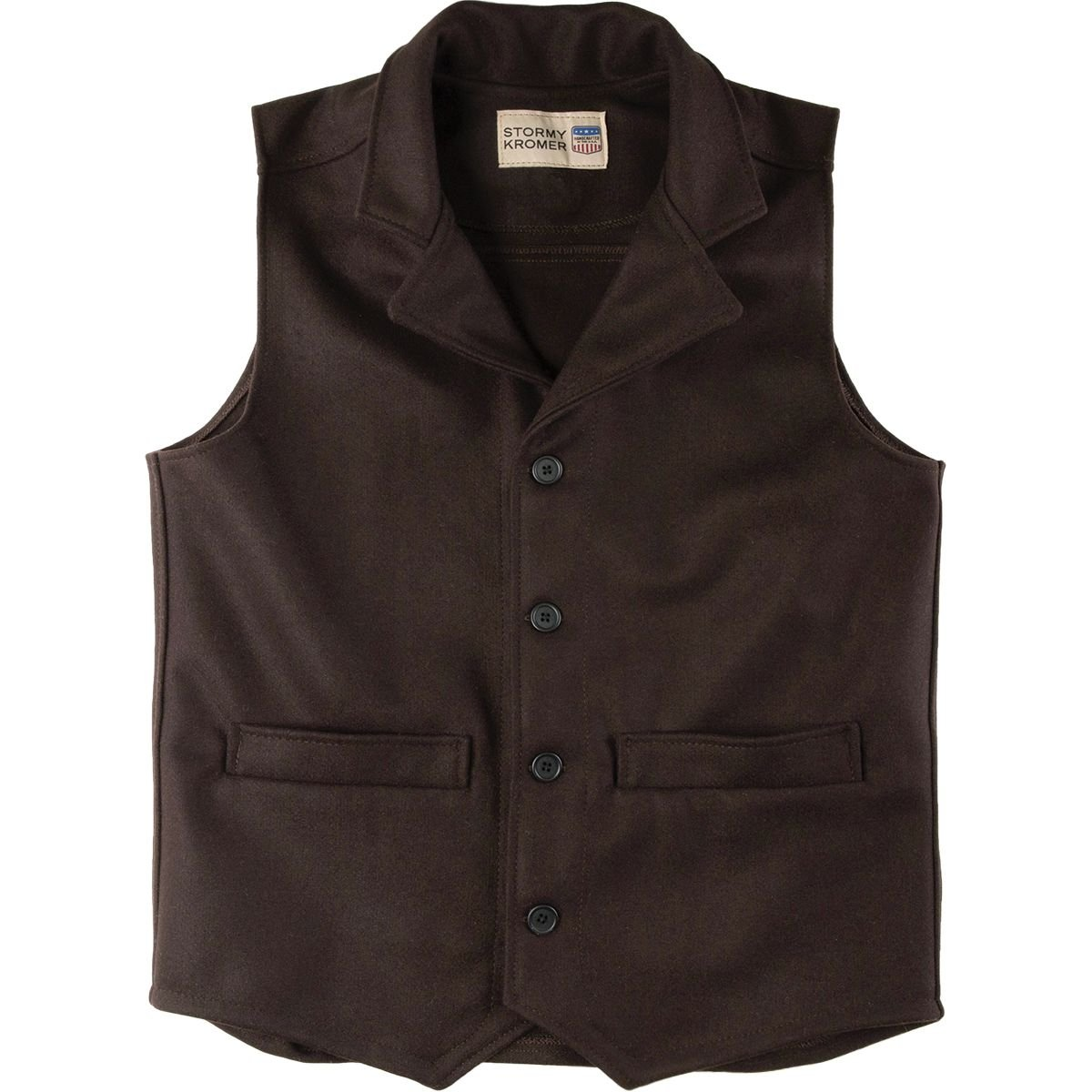 Stormy Kromer Western Vest, Color: Brown, Size: Md (52020-000050-260-800)