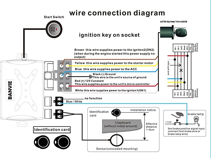 Remote starter button switch