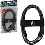 ZedLabz ultra 3M braided USB charging cable adapter for Nintendo 3DS, 2DS & DSi - gold plated extra long play & charge lead with cable tidy