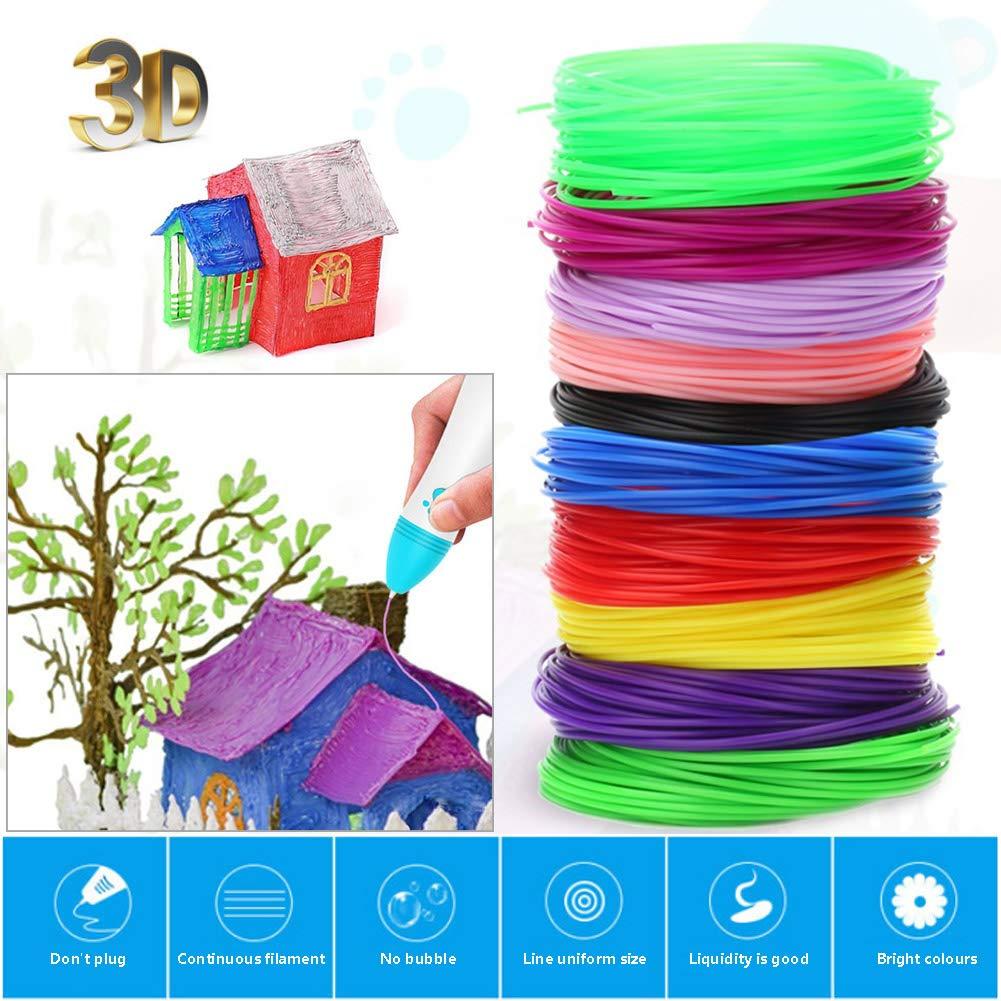 Lápiz 3D con 20 colores de filamento PLA 3D para niños y adultos ...