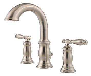 pfister f049tmkk hanover 2handle 8 inch widespread bathroom faucet in brushed nickel