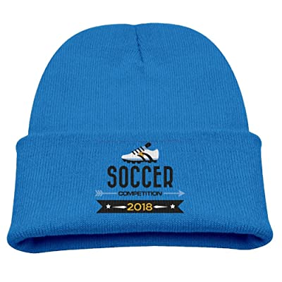 2018 Soccer Competition Argentina Boy Kid's Warm Winter Hats Windproof Skull Caps