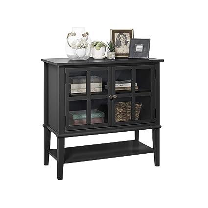 Amazon Ameriwood Home Franklin 2 Door Storage Cabinet Black