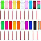 Elcoho 20 Pieces Dance Ribbons Streamers Rhythmic Gymnastics Ribbon Wands for Kids Artistic Dancing, Baton Twirling, 20 Colors