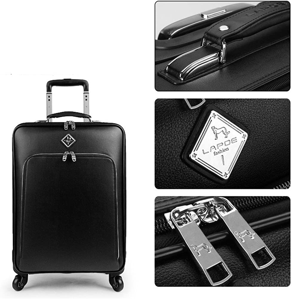 Adanina Rolling Duffel Bag Expandable Rollaboard Business Carry-on Wheeled Luggage