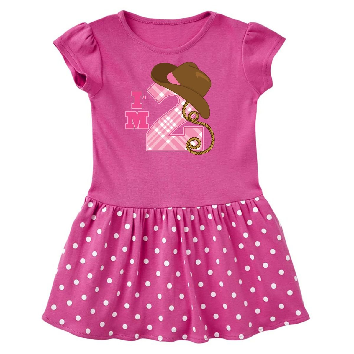 inktastic - 2nd Birthday 2 Year Old Cowgirl Hat Toddler Dress 14-191900-198