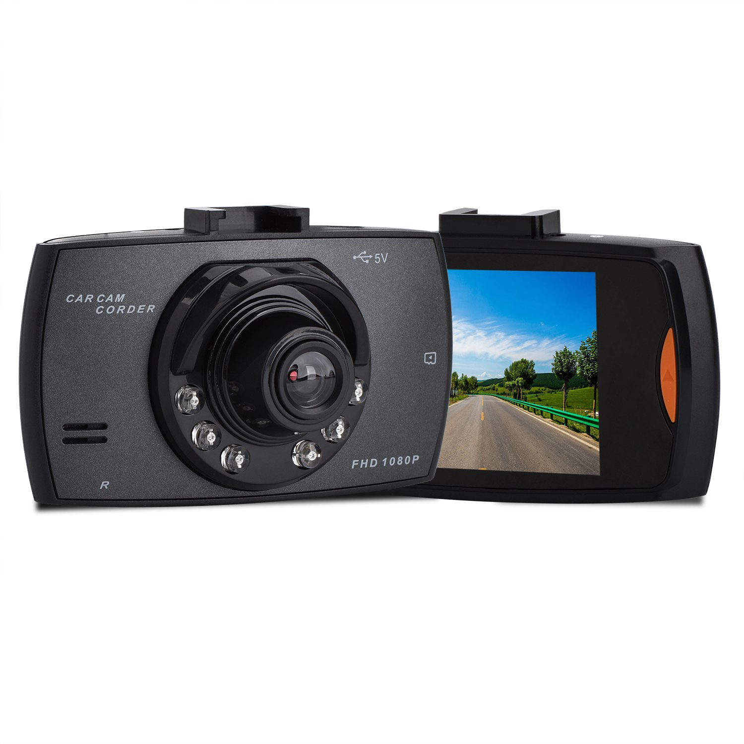 Dash Cam, HighSound 1080P Car DVR Dashboard Camera Full HD with 2.7'' LCD Screen 170° Wide Angle, Night Vision, WDR, G-Sensor, Loop Recording