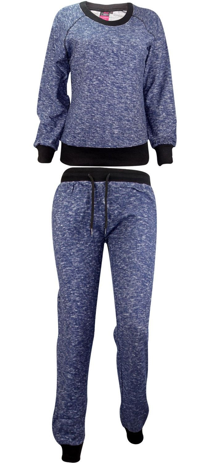 Ladies Full Tracksuit Sweatshirt Top & Jogging Bottom Set