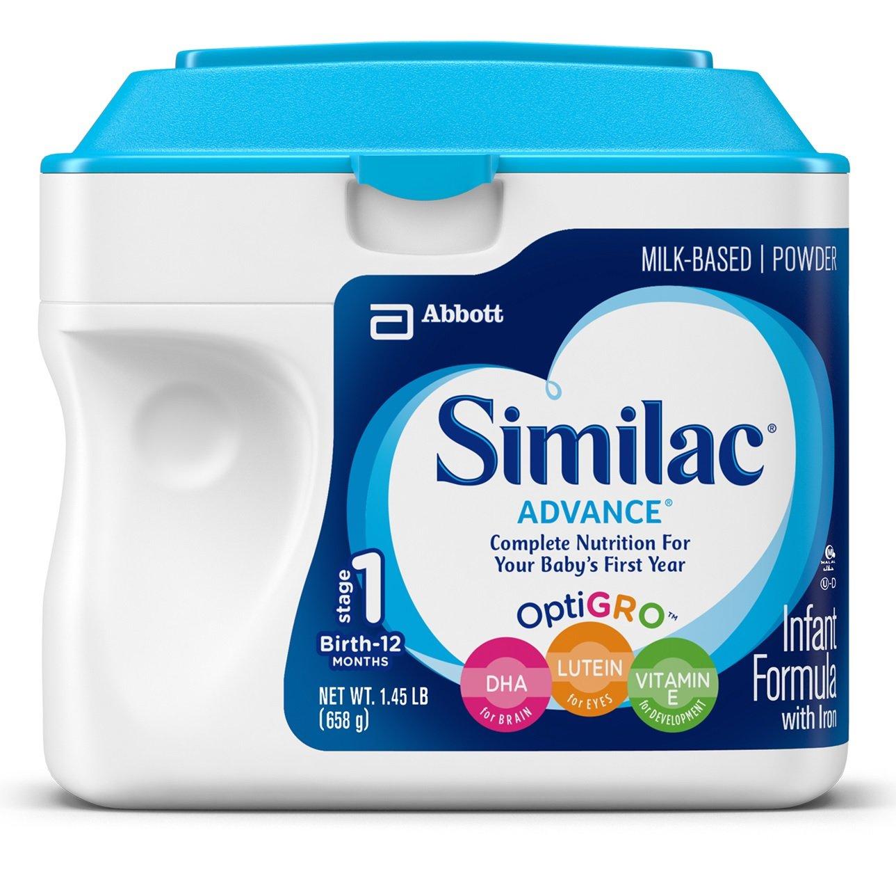 Similac Advance Infant Formula with Iron, Baby Formula, Powder, 1.45 lb (Pack of 6)