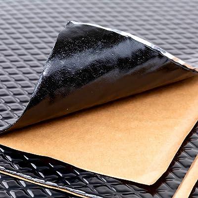 Noico Black 80 mil 18 sqft Car Sound Deadening Mat, Butyl Automotive Sound Deadener, Audio Noise Insulation and Dampening: Automotive