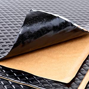 Noico Black 80 mil 18 sqft Car Sound Deadening Mat, Butyl Automotive Sound Deadener, Audio Noise Insulation and Dampening
