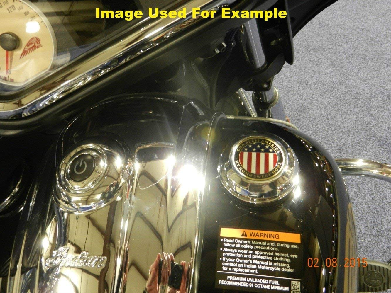 Scout MotorDog69 Indian Horn Cover Coin Mount Set with Air Force Veteran for Chieftain Roadmaster Chief Vintage Dark Horse Chief Classic