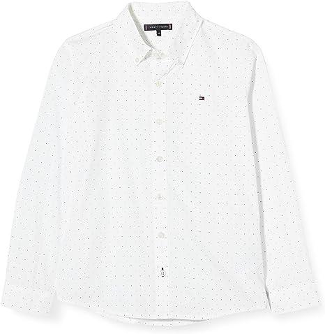 Tommy Hilfiger Mini Print Hilfiger Shirt L/S Camisa para Niños: Amazon.es: Ropa y accesorios