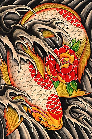 Amazon.com: Lifes Journey by Clark North Japanese Koi Fish Pond ...