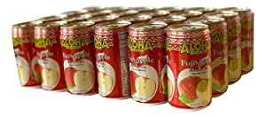 CASE OF 24 - ALOHA MAID 100% ALL NATURAL JUICE DRINK, MAKE IN HAWAII (FUJI APPLE)