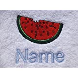 Face Cloth, Hand Towel, Bath Towel or Bath Sheet Personalised with WATERMELON logo and name of your choice (Hand Towel 50x90cm)