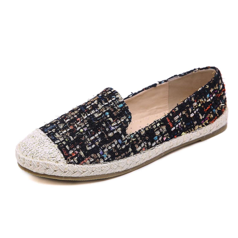 Morbuy Espadrilles Noir Femme, Taille Décontractée Plat Loafers Chaussures Mode Espadrilles Confort Espadrilles National Bohémien Grande Taille 35-42 Noir 5431d7a - digitalweb.space