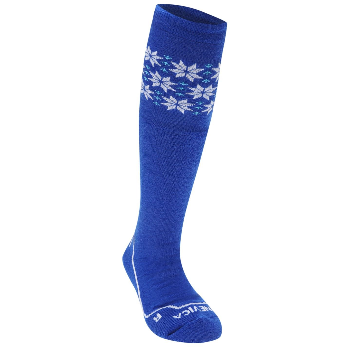 Nevica Kids Juniors Extreme Snow Ski Socks 1 Pack Thermal Junior 1-6 Royal/White