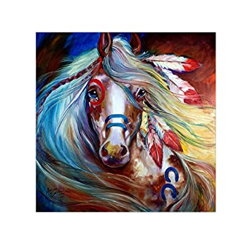 Zobeen Horse 5D DIY Full Diamond Painting Embroidery Cross Craft Stitch Kit  Home Decor