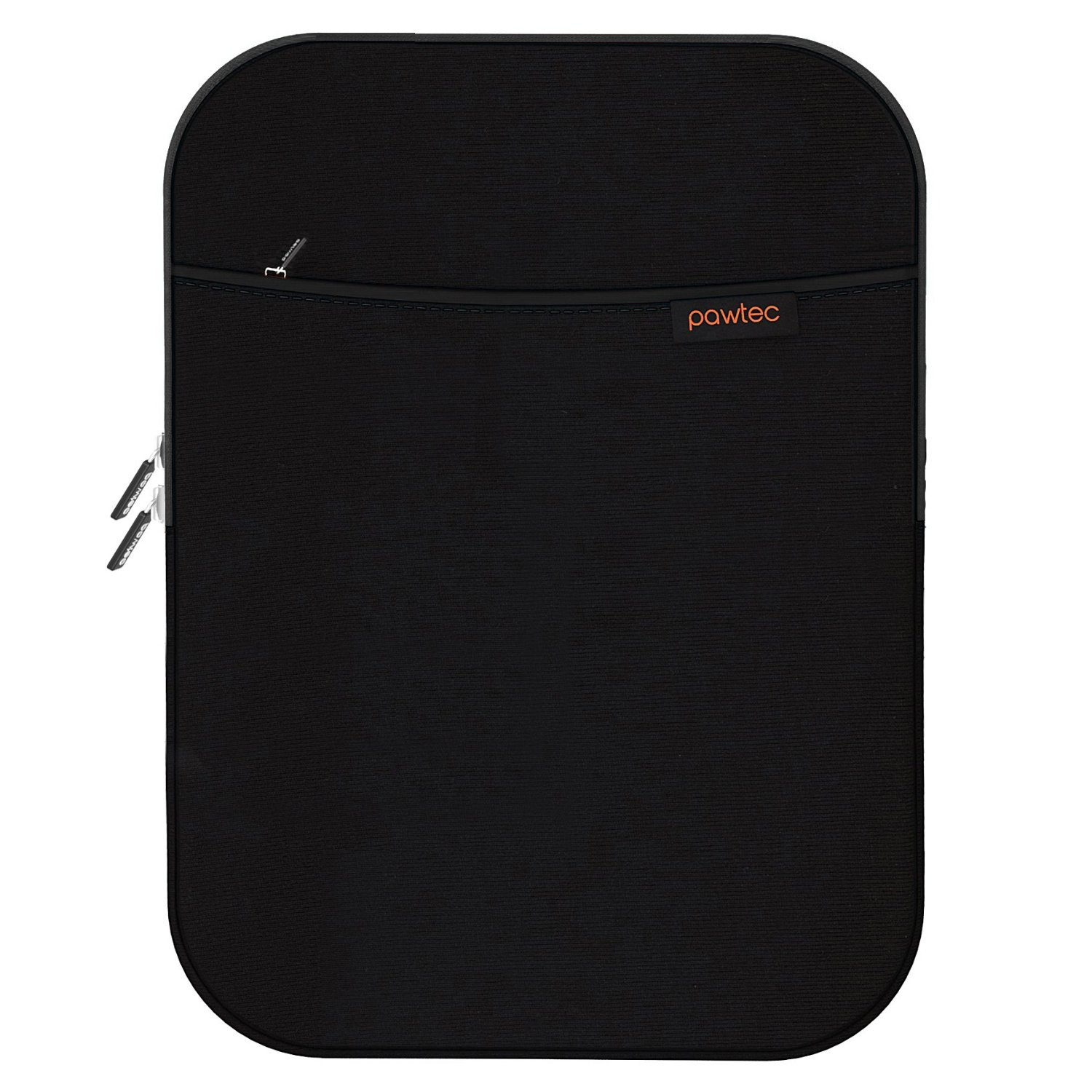 Pawtec Shockproof Neoprene Protective Storage Carrying Sleeve Case - Compatible with Apple 12.9 Inch iPad Pro Retina Tablet - With Extra Storage Pocket for Accessories and Wall Charger (Black)