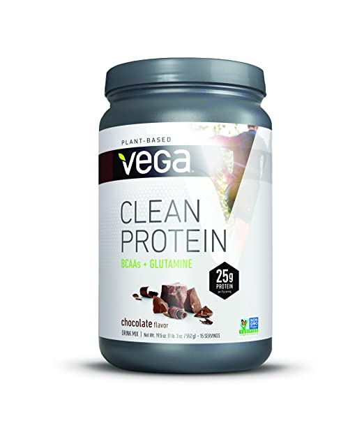 Vega Clean Protein Powder, BCAAs plus Glutamine, Chocolate, 19.5oz, 15 Servings