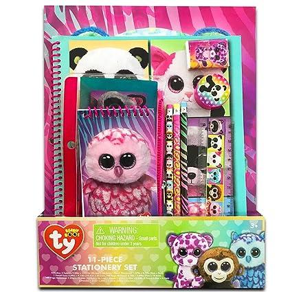 67a7023f1cd Amazon.com  TY Beanie Boos 11 Piece Stationary Set Folders Pencils  Notebook  Toys   Games