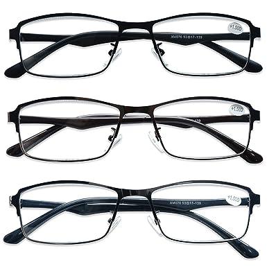 KOOSUFA Lesebrille Herren Damen Federscharnier Lesehilfen Nerdbrille Retro Rechteckig Qualit/ät Vollrandbrille Holzfarbe 1.0 1.5 2.0 2.5 3.0 3.5 4.0