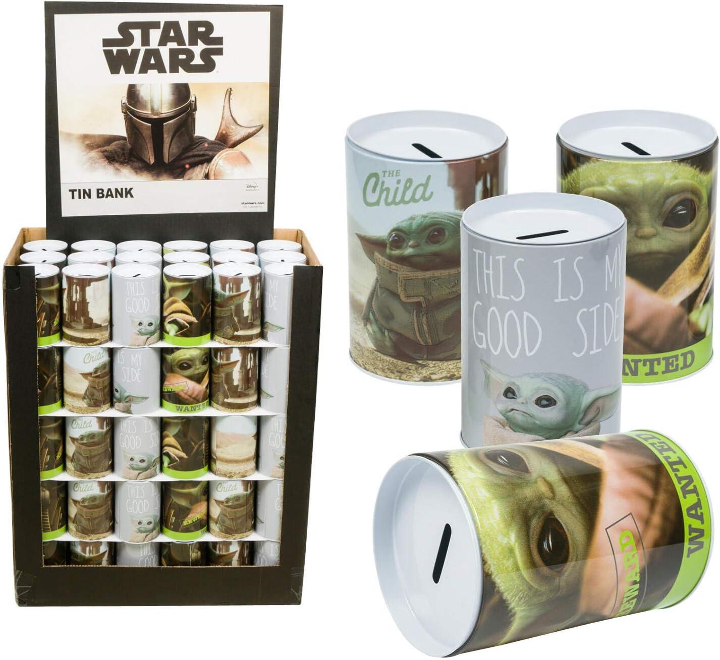3 Pcs Disney Star Wars Baby Yoda Saving Bank 3 Assortments Per Pack