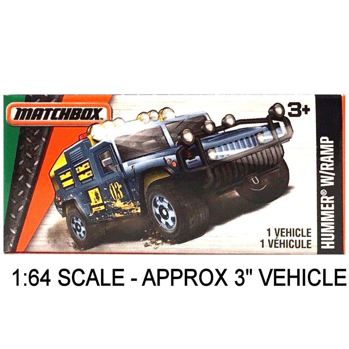 マッチボックスPower Grabs Hummer ) withランプブルーグレー( 1 : Hummer 64スケール – 64スケール 約3