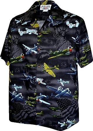 75e9c28f USA Fighter Planes Mens Cotton Shirt 410-3820 Black M 410-3820
