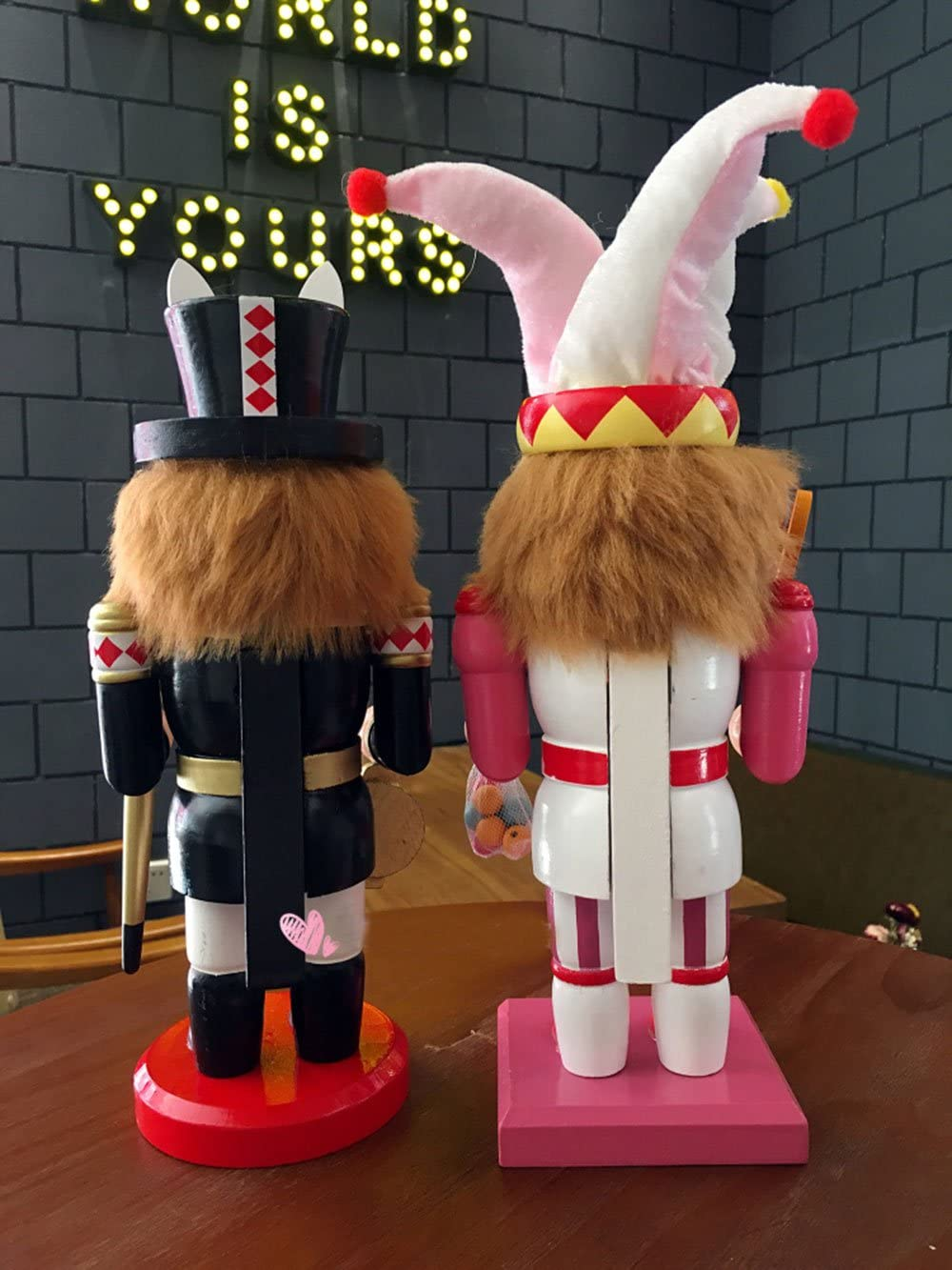 gelvs 11.8 inches Holiday Ornament Nutcracker Puppet Home Decoration Mr Bunny Wooden Figure Party Ceremony Figurine