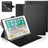 iPad Pro 10.5 Keyboard Case with Built-in Apple Pencil Holder, Ultra-Thin Stand Case Cover with Magnetically Detachable Wireless Bluetooth Keyboard for Apple iPad Pro 10.5 2017 Tablet - Black