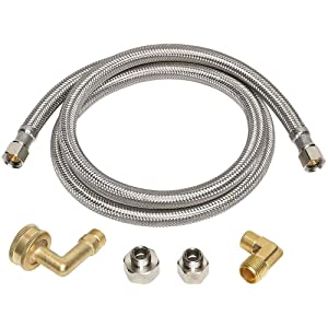 Everbilt 3/8 in. x 3/8 in. x 48 in. Stainless Steel Universal Dishwasher Supply Line