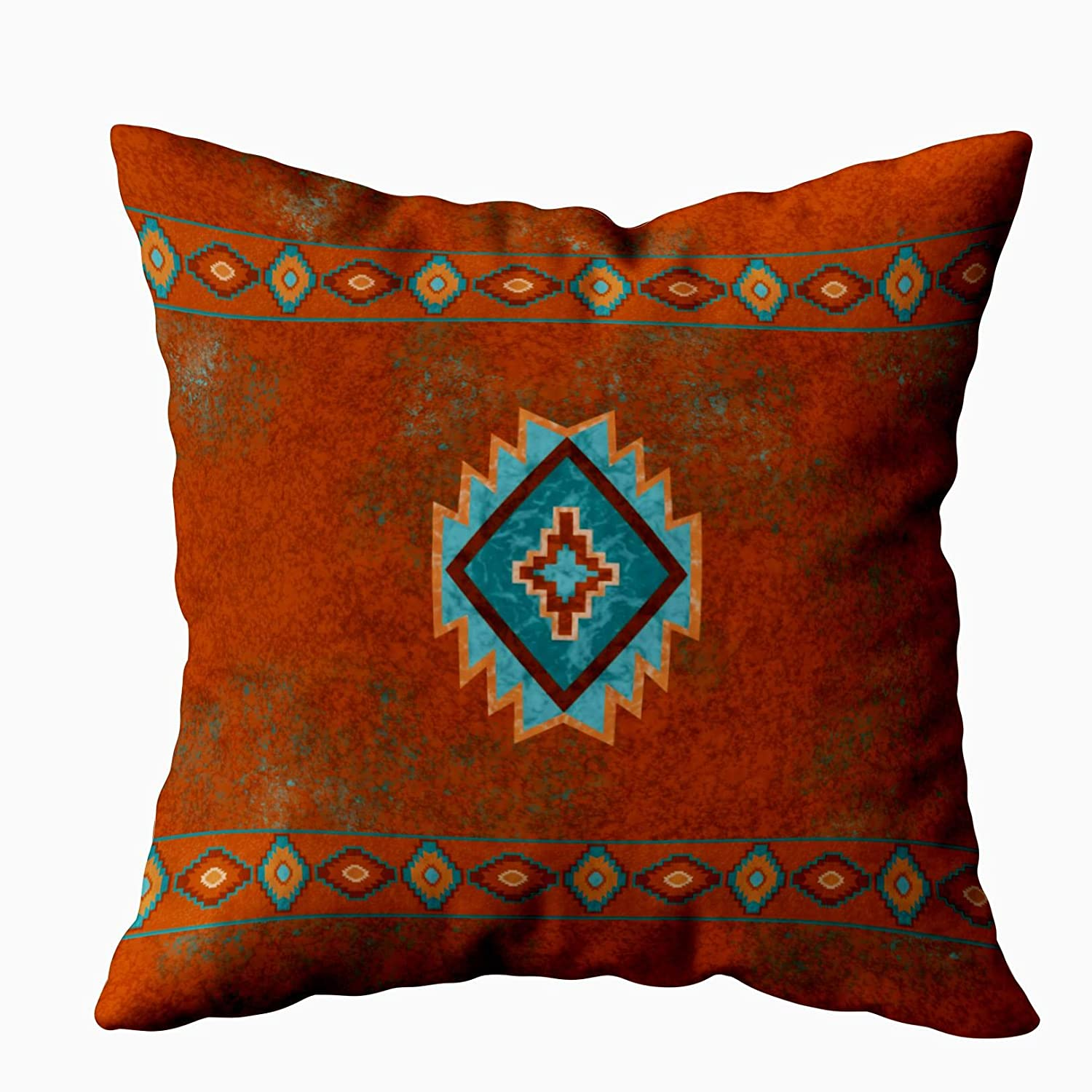 TOMKEY Hidden Zippered Pillowcase Southwest Canyons Diamond 18X18Inch,Decorative Throw Custom Cotton Pillow Case Cushion Cover for Home Sofas,bedrooms,Offices,and More