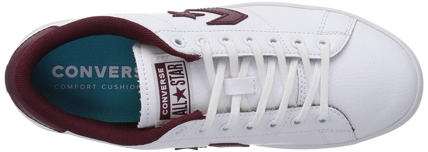 Converse Women's All-Court Low Top Sneaker B07CQ6MD24 5.5 B(M) US|White/Dark Burgundy
