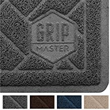 """GRIP MASTER Premium Durable Cat Litter Mat, XL Jumbo Size, Litter Trapping Border, Phthalate Free, Traps Litter, Soft on Paws, Easy to Clean (Graphite: 35"""" x 23"""")"""