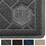 GRIP MASTER Premium Cat Litter Trapping Mats - Phthalate Free - Best Scatter Control - Jumbo XL Sizes - Mat Traps Litter - Easy to Clean - Soft on Kitty Paws (Graphite: 35