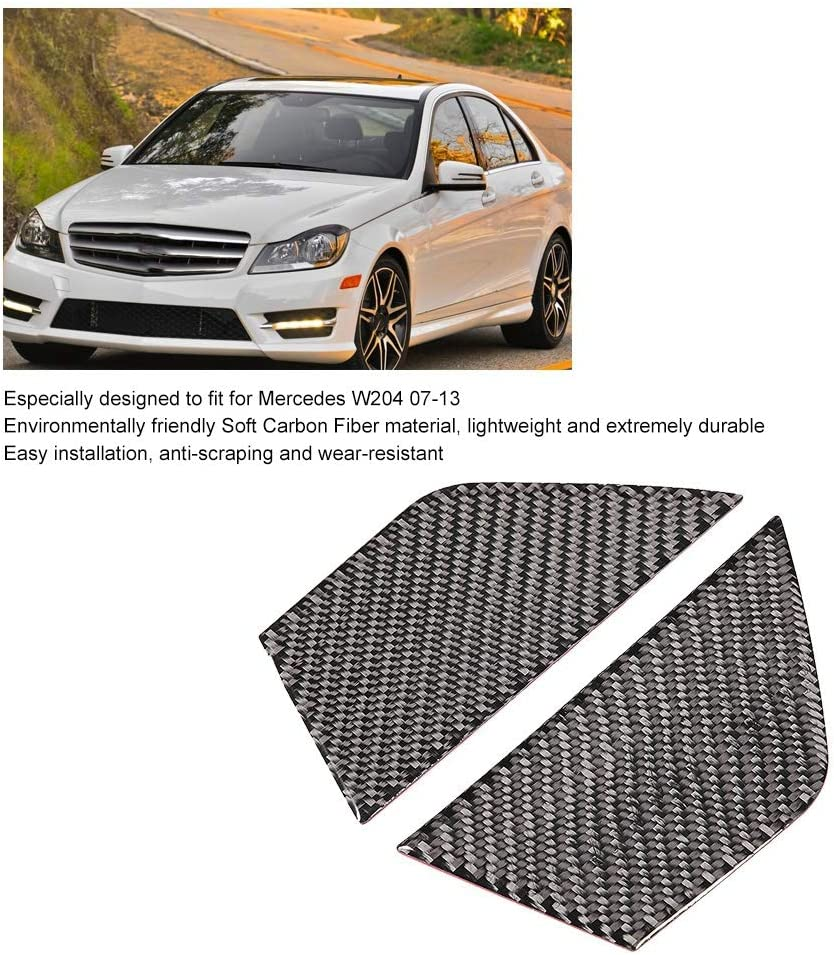 Innent/ür Dekoration Rahmen EBTOOLS 2 ST/ÜCKE Auto Innent/ür Dekoration Panel Weiche Echtcarbon Fit f/ür W204 07-13