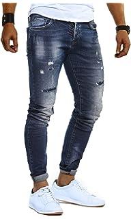 LEIF NELSON Herren Hose Jeans Stretch Jeanshose Freizeithose Denim Slim Fit  LN9910 6faffb0401