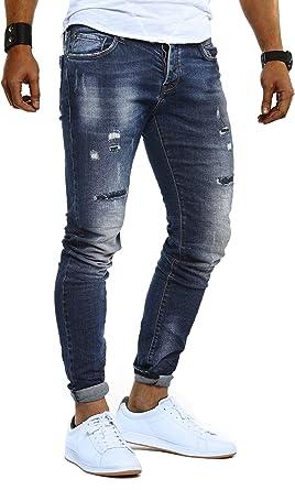 Outlet zum Verkauf New York Volumen groß Leif Nelson Herren Jeans Hose Slim Fit Denim Blaue graue Lange Jeanshose  für Männer Coole Jungen weiße Stretch Freizeithose Schwarze Cargo Chino ...