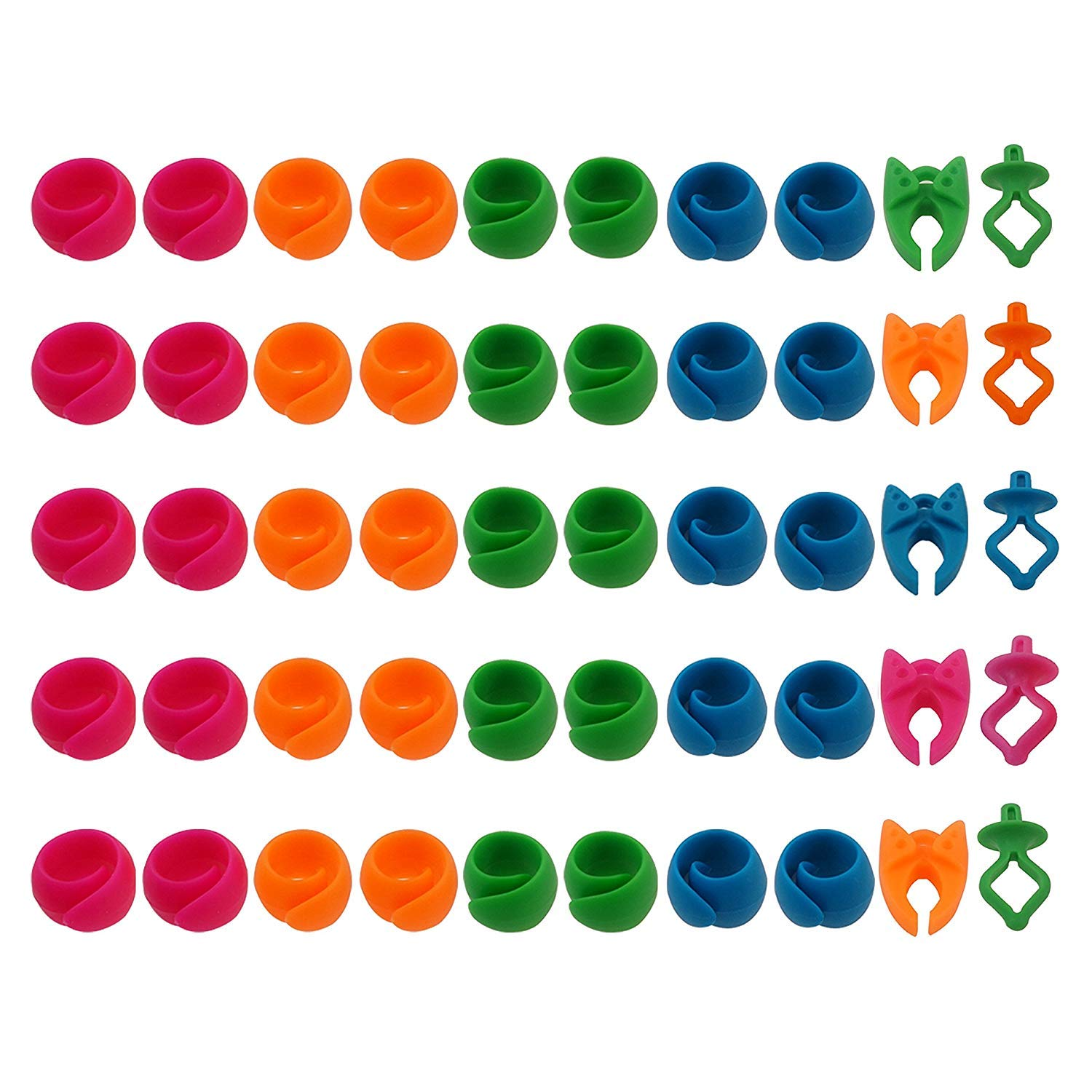 No Loose Ends for Sewing and Embroidery Machine Thread Spools 40 Thread Spool Huggers + 5 Bobbin Holders + 5 Bobbin Clamps EAST-F 50pcs Mix NOTIONS - Prevent Thread Tails from Unwinding