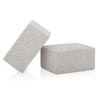 KP soluciones 2 Pack Grill limpiador de piedra 100% ecológico inodoro plancha limpiador mano antideslizante